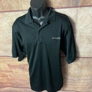 Columbia Sportswear PFG Mens Polo Shirt Black Larg